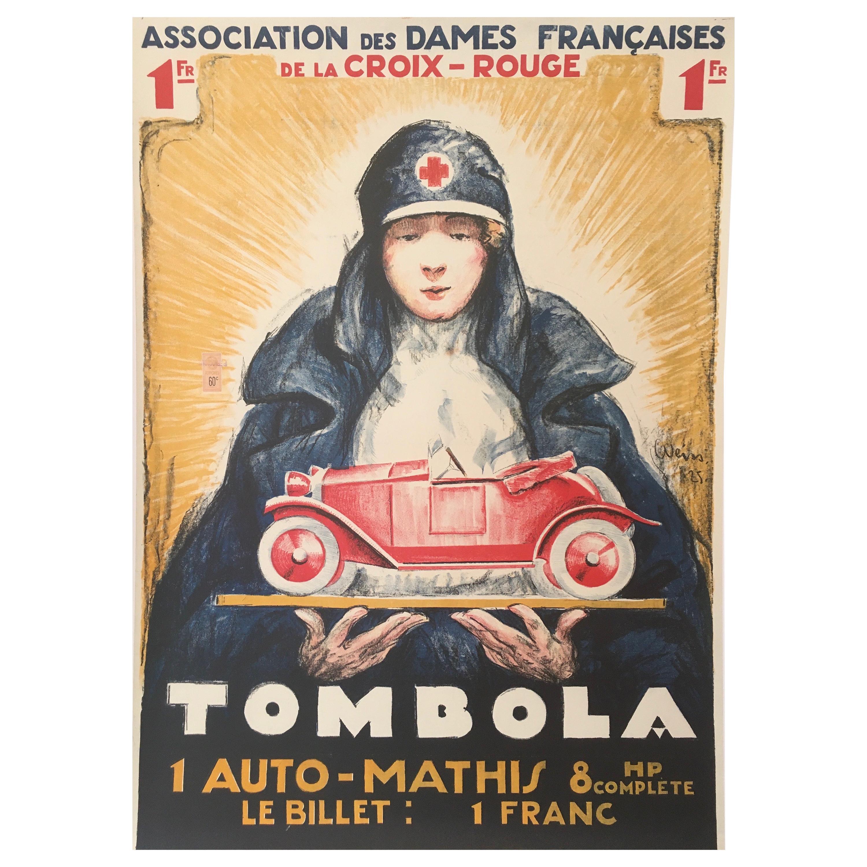 'TOMBOLA', Original Vintage French Art Deco Advertising Poster