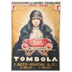 'TOMBOLA', Original Vintage French Art Deco Advertising Poster