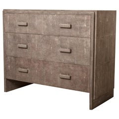 Tomboy Chest of Drawers in Black Shagreen by R & Y Augousti