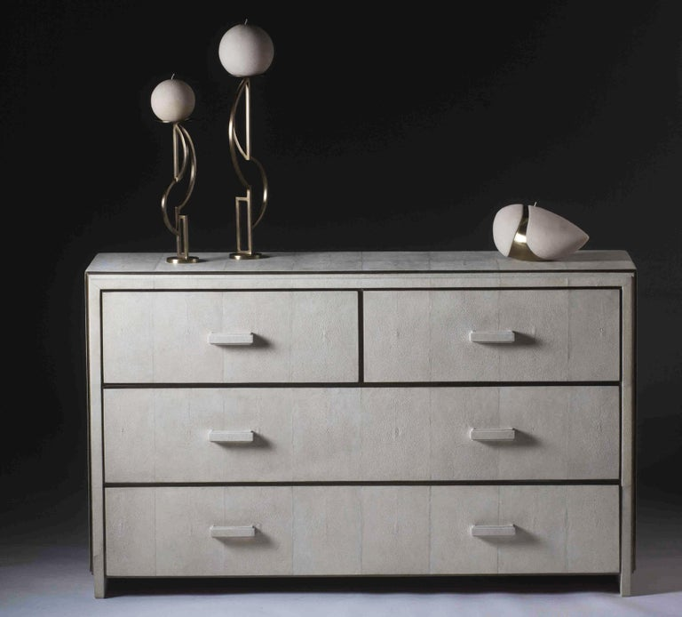 French Tomboy Chest of Drawers and Mirror by R&Y Augousti For Sale