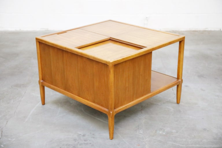 Tomlinson Sophisticate Cocktail Bar and Storage Coffee Table, 1950s, Signed For Sale 1