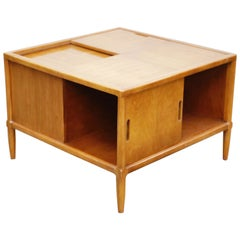 Tomlinson Sophisticate Cocktail Bar and Storage Coffee Table, 1950s, Signed