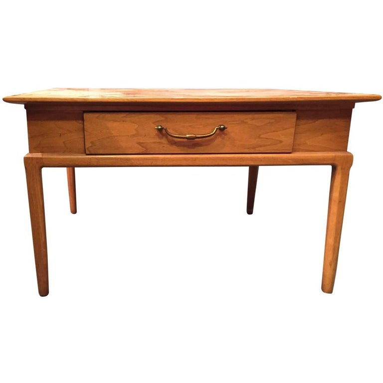 Tomlinson Square Coffee Table With Drawer For