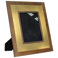 Tommaso Barbi 1970s Midcentury Brass Large Picture Frame