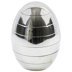 Tommaso Barbi Chrome Stacked Tray Bowl Egg Box