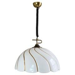 Tommaso Barbi Huge White and Gold Ceramic Lamp Shade