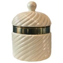 Tommaso Barbi Ice Bucket in White Porcelain