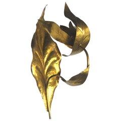 Tommaso Barbi in Style Italian Applique in Brass, 1950s