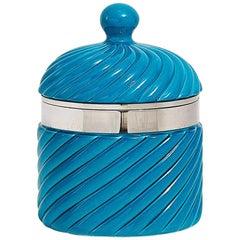 Tommaso Barbi Large Ceramic Ribbed Ice Bucket