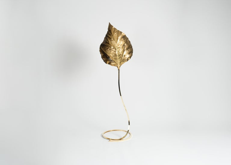 Late 20th Century Tommaso Barbi, Leaf Floor Lamp, Italy, circa 1970-1980 For Sale