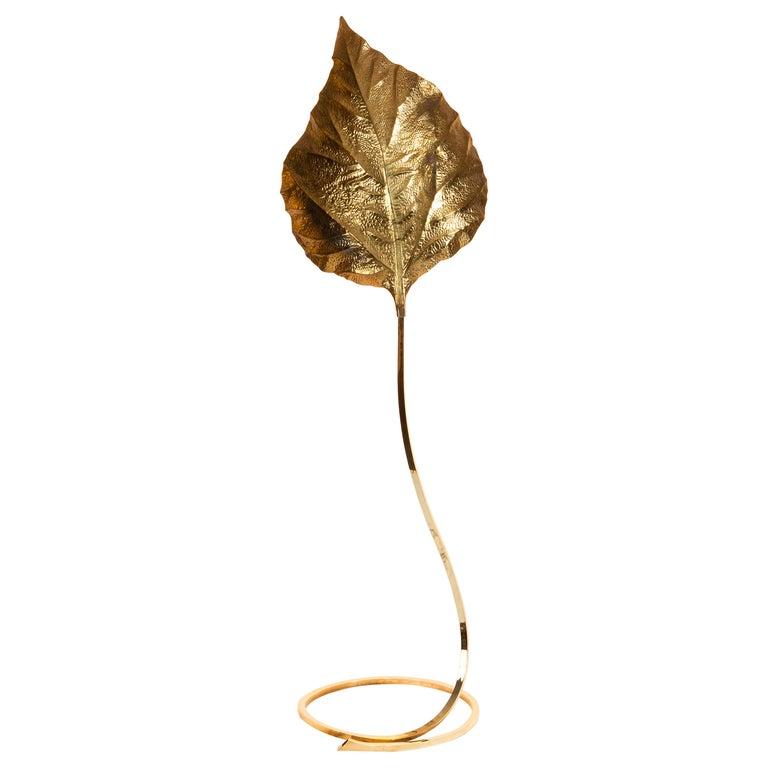 Tommaso Barbi, Leaf Floor Lamp, Italy, circa 1970-1980 For Sale