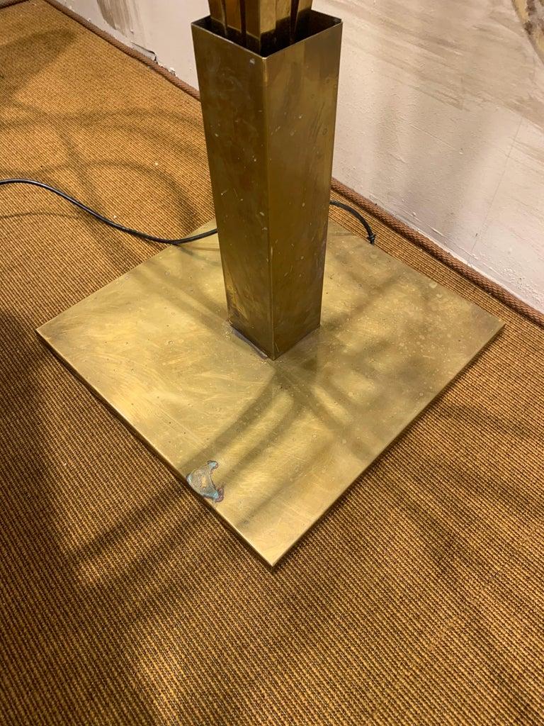 Tommaso Barbi Leaves Floor Lamp, Bottega Gadda Manufactured in 1970 circa, Brass For Sale 4