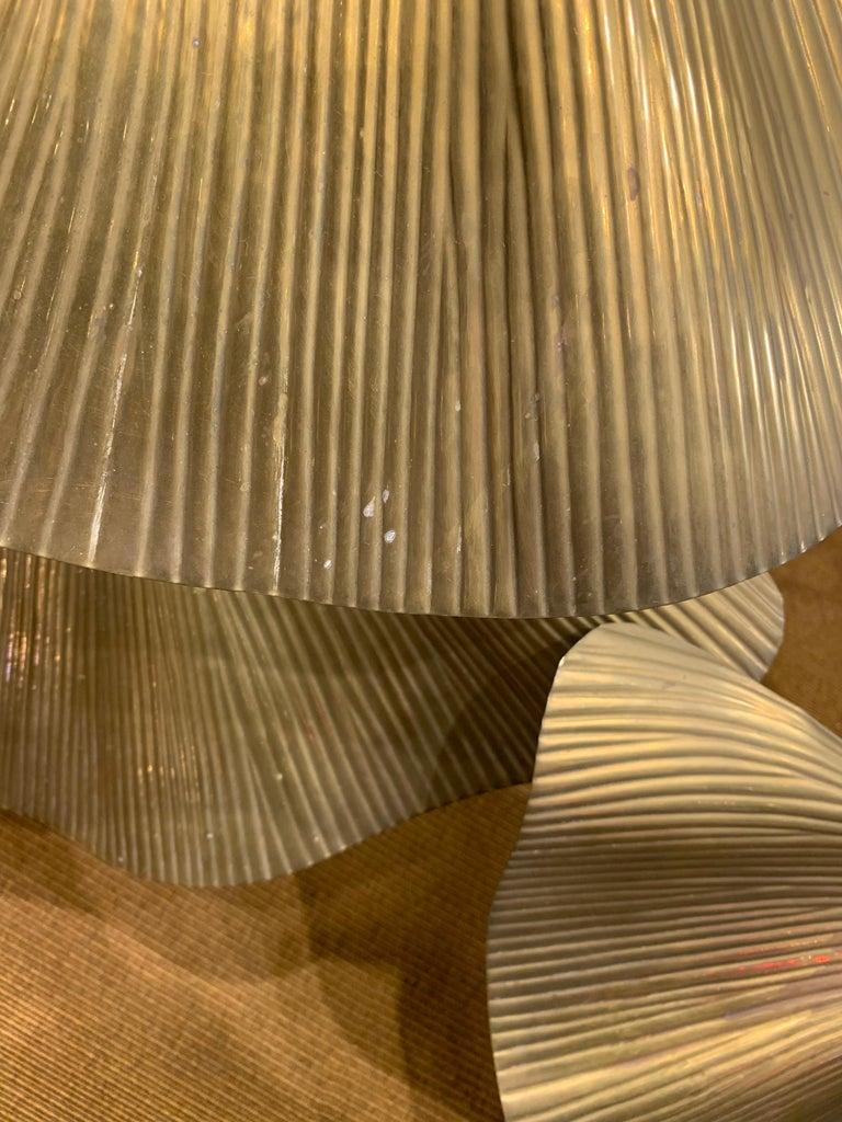 Tommaso Barbi Leaves Floor Lamp, Bottega Gadda Manufactured in 1970 circa, Brass For Sale 5