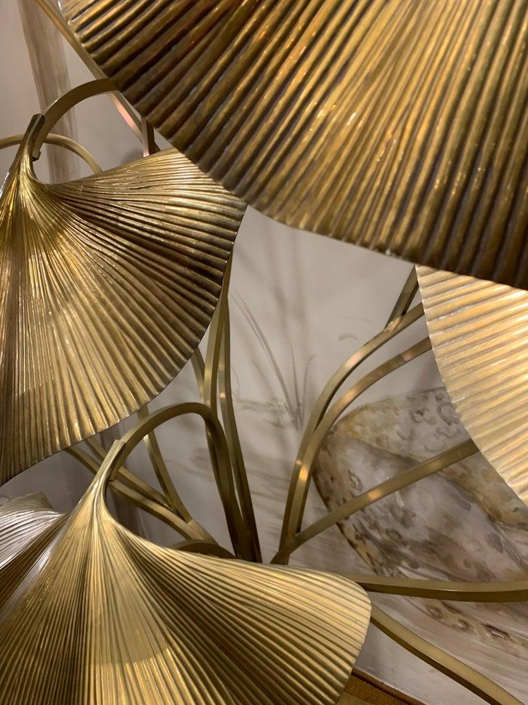 Tommaso Barbi Leaves Floor Lamp, Bottega Gadda Manufactured in 1970 circa, Brass For Sale 2