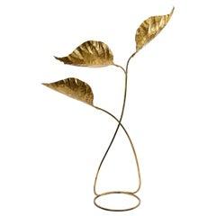 """Tommaso Barbi Midcentury Italian Brass """"Rabarbaro"""" Floor Lamp, 1970"""