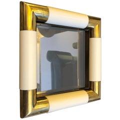 Tommaso Barbi Mid-Century Modern Brass and Glass Vide Poche, circa 1970