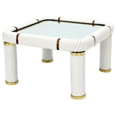 Tommaso Barbi Midcentury Italian Modern Porcelain Square Coffee Side Table