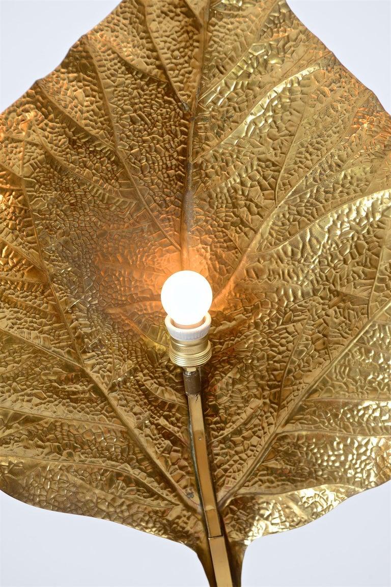 Brass Tommaso Barbi 'Rhubarb' Floor Lamp, circa 1970 For Sale