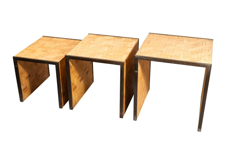Mid-Century Modern Tommaso Barbi, Three Nesting Tables, Italy, circa 1970 For Sale