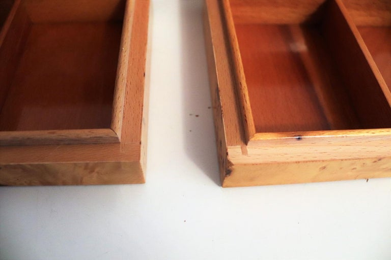 Tommaso Barbi Vintage Burl Wood Decorative Boxes, Italy 1970s, Set of Two For Sale 6