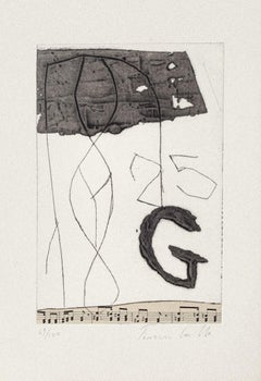 Musical Notes - Original Collage and Etching by Tommaso Cascella