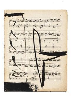 Musical Notes - Original Mixed Media by Tommaso Cascella - 2009