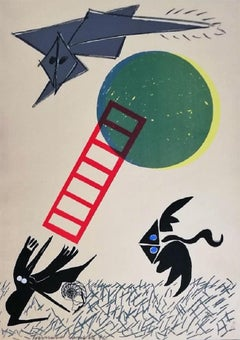 Untitled - Original Screen Print by Tommaso Cascella - 1972