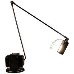Tommaso Cimini Black Table Lamp Daphina by Lumina Italia, 1975