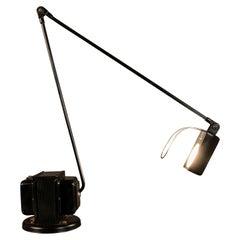 Tommaso Cimini Italian Black Table Lamp Daphina by Lumina