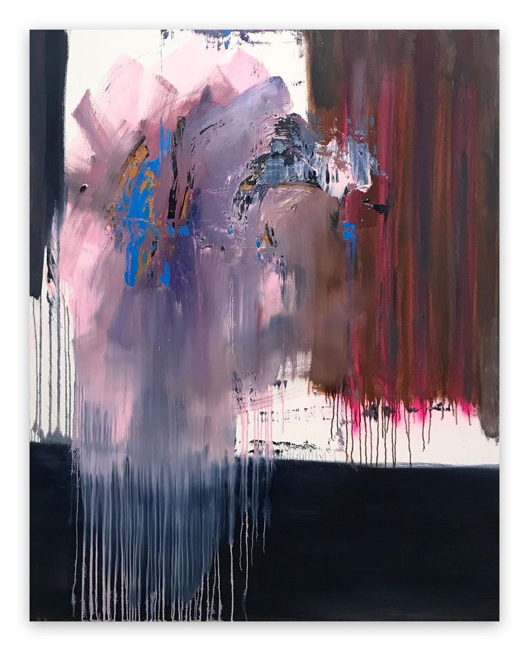 Tommaso Fattovich Abstract Painting - Libet's Delay (Abstract painting)