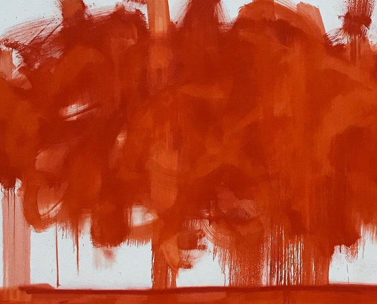 Red Cloud - Abstract Painting by Tommaso Fattovich