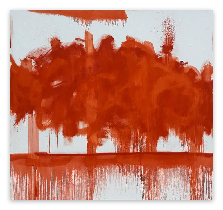 Tommaso Fattovich Abstract Painting - Red Cloud