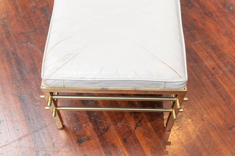 Brass Tommi Parzinger Bench for Parzinger Originals For Sale