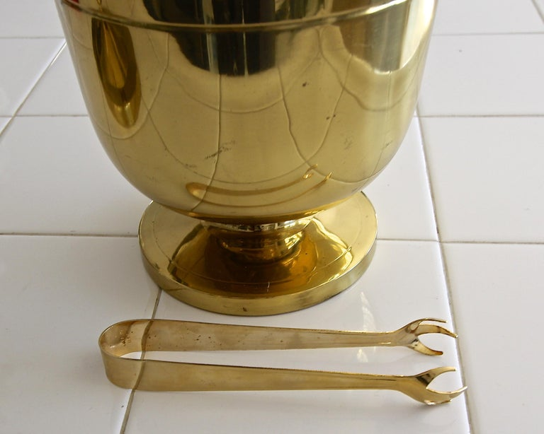 Tommi Parzinger Brass Champagne Cooler or Ice Bucket For Sale 5