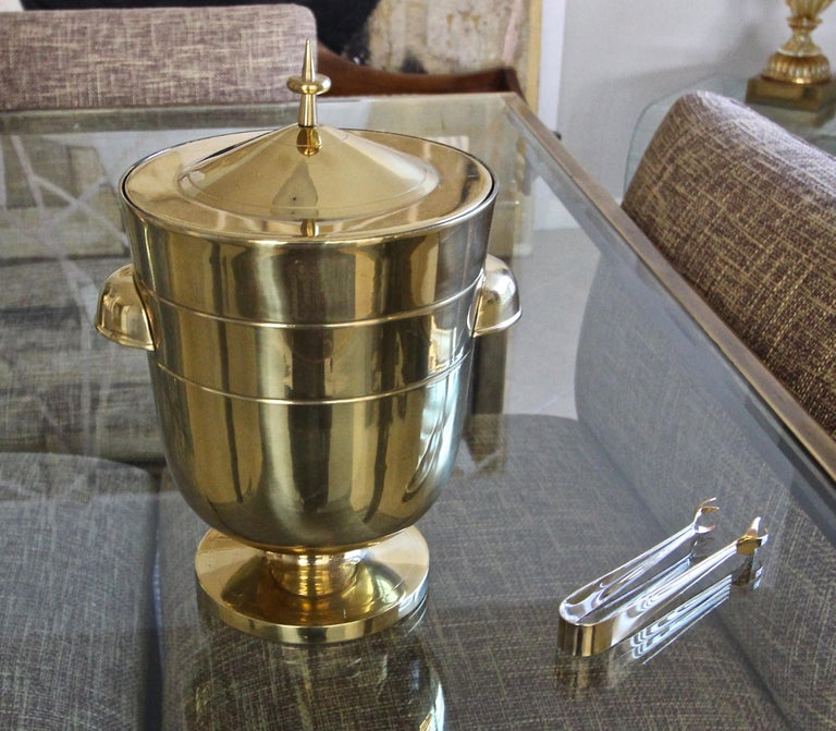 Tommi Parzinger Brass Champagne Cooler or Ice Bucket For Sale 7