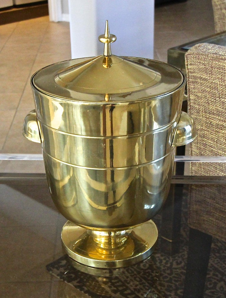 Tommi Parzinger Brass Champagne Cooler or Ice Bucket For Sale 1