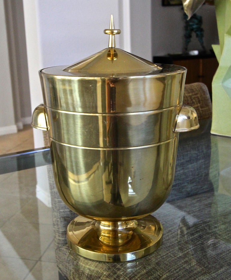 Tommi Parzinger Brass Champagne Cooler or Ice Bucket For Sale 2
