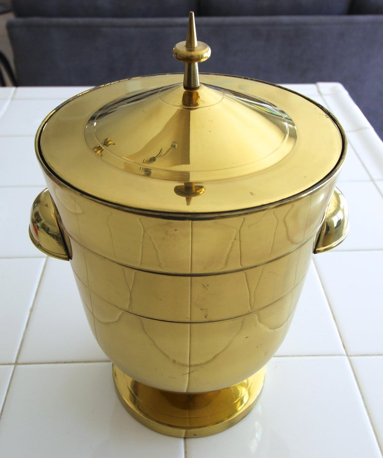 Tommi Parzinger Brass Champagne Cooler or Ice Bucket For Sale 4