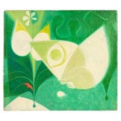 """Tommi Parzinger """"Butterflys"""" Oil On Burlap, 1963"""