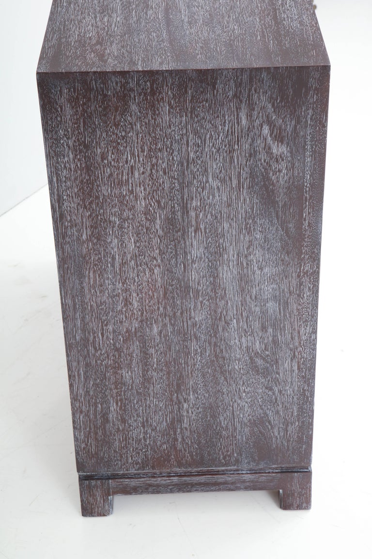 Tommi Parzinger Cerused Mahogany Chests For Sale 3