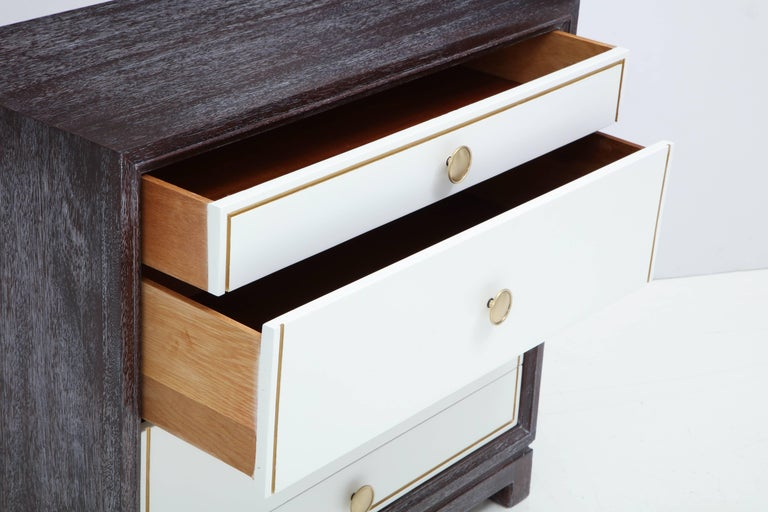 Tommi Parzinger Cerused Mahogany Chests For Sale 1