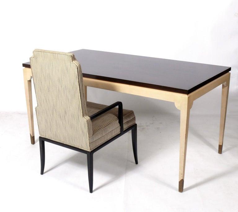 Hollywood Regency Tommi Parzinger Custom Desk and Chair  For Sale