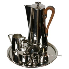Tommi Parzinger for Dorlyn Silversmiths Nickel-Plated Coffee or Tea Set