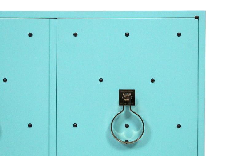 20th Century Tommi Parzinger for Parzinger Originals Studded Cabinet For Sale