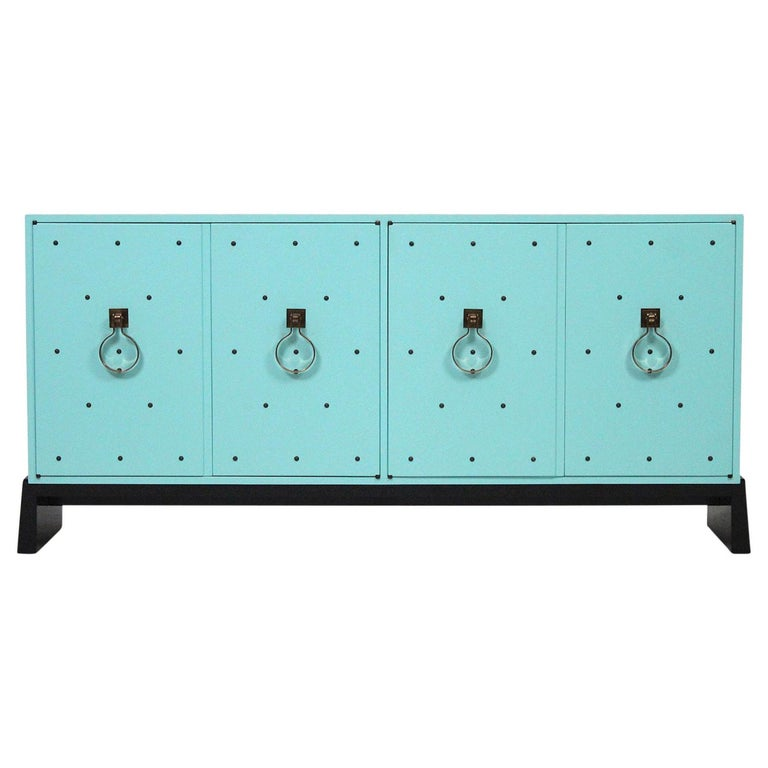 Tommi Parzinger for Parzinger Originals Studded Cabinet For Sale