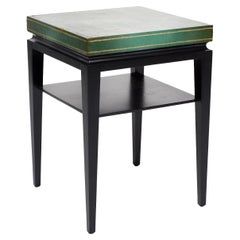 Tommi Parzinger, Green Leather Occasional Table, Model No. 3303