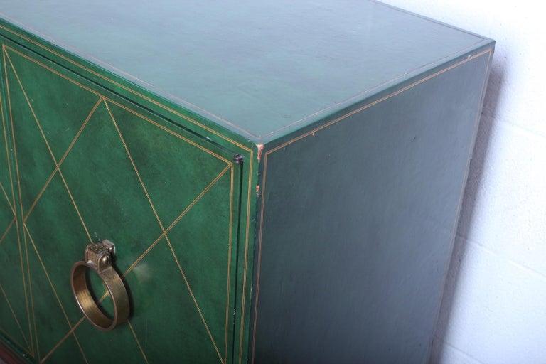 Tommi Parzinger Leather Cabinet For Sale 7
