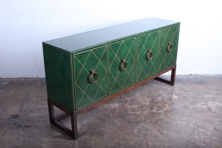 Tommi Parzinger Leather Cabinet For Sale 8