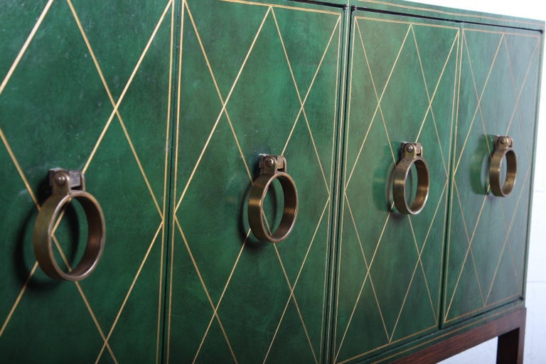 Tommi Parzinger Leather Cabinet For Sale 9