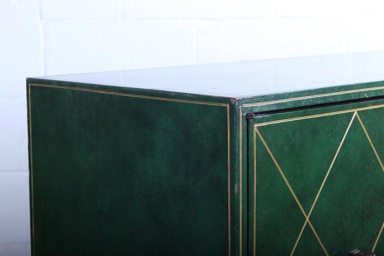 Tommi Parzinger Leather Cabinet For Sale 10